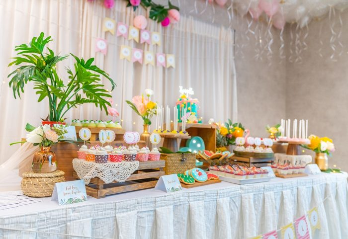 LaBonnie Catering Flamingo Theme Dessert table